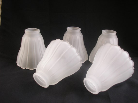 Frosted Glass Shades Chandelier Shade Lot Glass Scalloped Edge