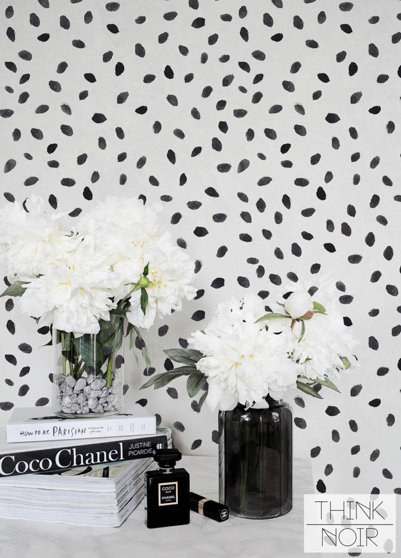 black watercolor spot regular wallpaper watercolor removable