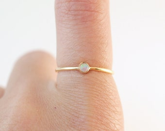 Opal Ring | Fire Opal Rings | Opal | Opal Stacking Rings | Boho Ring | Rings With Stones | Opal Gift for Her | Opal Birthstone Rings