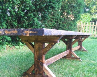 Farmhouse Barn Bench, Farm Bench, Reading Bench, Rustic Bench, Harvest Bench, Farm Bench, Barn Bench, Rustic Wedding