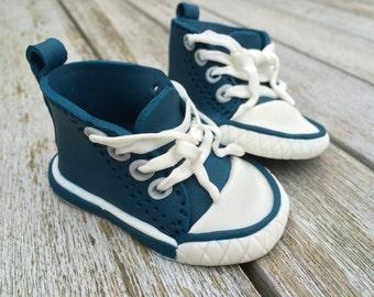 Baby chucks shoes dark blue fondant