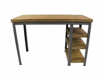Desk with Shelves (Oak/Steel)
