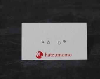 O Stud Earring Set Sterling Silver 925