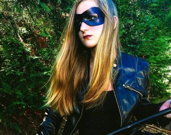 Genuine leather super hero mask!