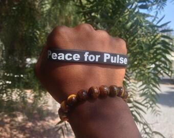 Peace for Pulse Wristband, Black, Orlando