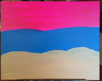 Beach at Sunset - Acrylic Painting on Canvas