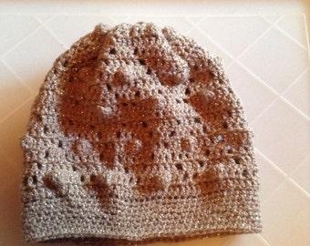 Beige crocheted Hat