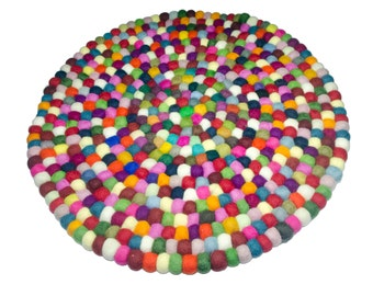 Felt ball carpet 20 inces (50 cm)