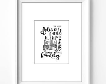 8x10 wall art printable. quotes, inspirational, fun, wall decor, kitchen decor,  dining room decor, instant download