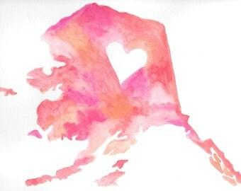 My Heart is in Alaska Print