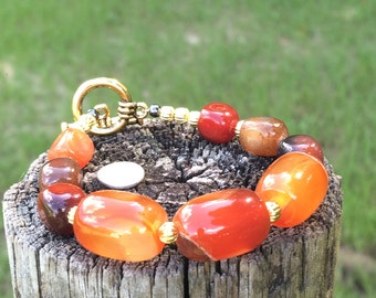 Chunky Agate Bead Bracelet