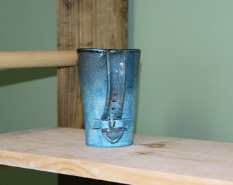 Blue Tumbler with Handle