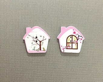 Cherry Blossom house buttons