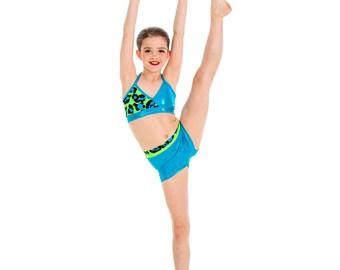 KAELYN LEOPARD 2 piece  dancewear set