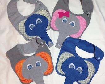 Elephant Binky Bib