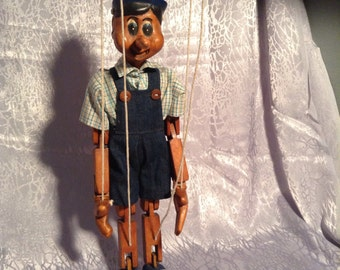 Wooden Pinocchio Marionette