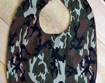 Camouflage Print Infant Bib