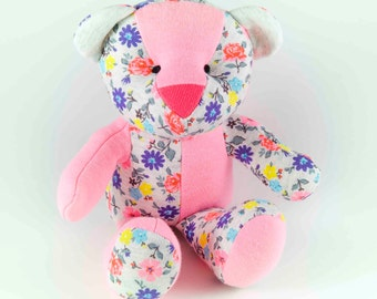 Baby Plush Bear made from your baby's pijamas or clothes