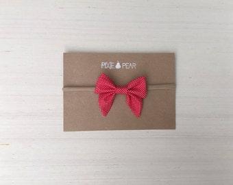 Red polka baby/ toddler headband