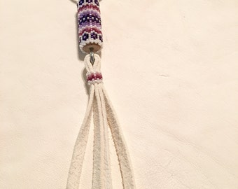 Native American Style Beaded Keychain