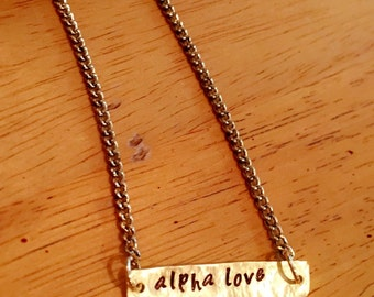 Alpha Love Necklace