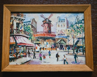 Framed Moulin Rouge Print