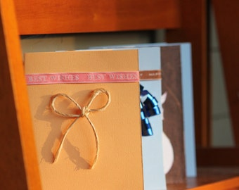 Handmade Card: Best Wishes