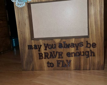 custom made wood frames sized stained and name or quote of your choosing