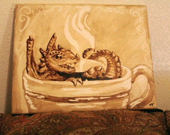 Dragon in a Cup Prints in a Clip Frame