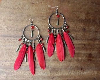 dream-catcher red feathers