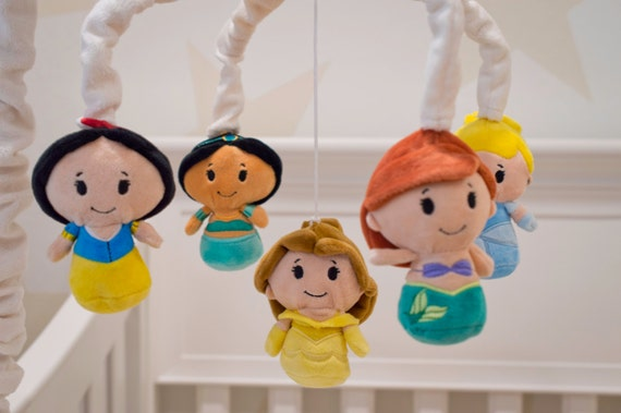 Disney princess mobile baby crib mobile disney princess for Princess crib mobile