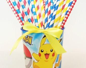 Pokemon Party Straws