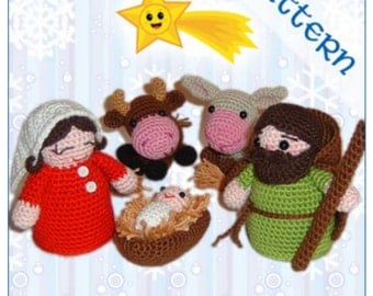 Amigurumi Nativity Set Holy Family and Three Wise Men in PDF Format