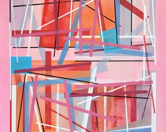 ABSTRACT 163 Acrylic on canvas original painting