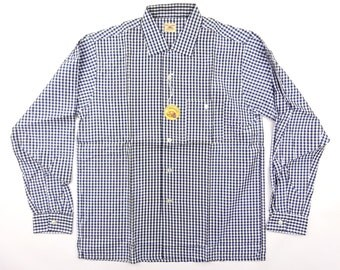 1950s Deadstock Fruit Of The Room Gingham Check Acetate Shirt - New