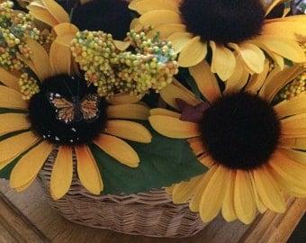 Sunflower Wall Basket