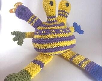 Crochet Toy - Yarn Knarl #2 - Bill, Bill & Phil - Tapestry Crochet Monster Toy