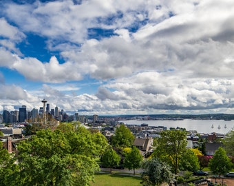Seattle Fine Art photograph canvas wrap skyline.