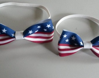 Bow Ties, Beau Ties, Stars and Stripes, Red White and Blue Bow Ties, Fourth of July Bow Tie
