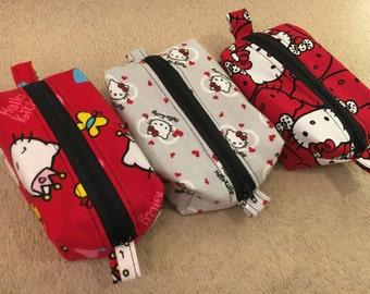Three Hello Kitty Box Pouches