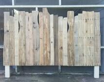 Driftwood Style Reclaimed Wood Headboard