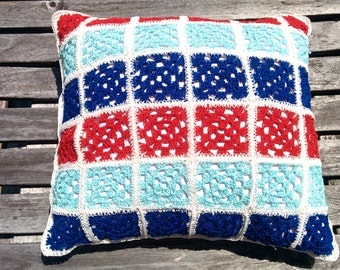 "Pillowcase ""Happy blue-red-white"""