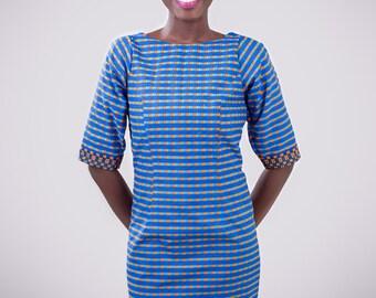 short Ankara dress, short African print dress, African dress