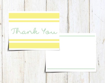 Green and Yellow Cute Thank You Card