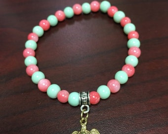 Stackable beaded bracelet