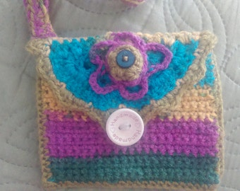 Handmade bright purse