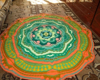 Mandala Madness, handmade, knitting kûčkom, products for the home, gifts, rugs