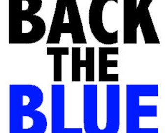 BACK the BLUE DECAL *Proceeds will be donated to Dallas Victims