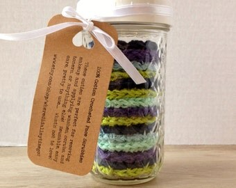 FIFTEEN 100% Cotton Face Scrubbies in Deep Ocean