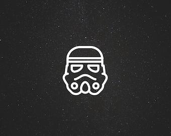 Storm Trooper Decal / Star Wars Decals / Laptop Decals / Car Decals / Syfy Decals / Computer Decals / MacBook Decals / Window Decals